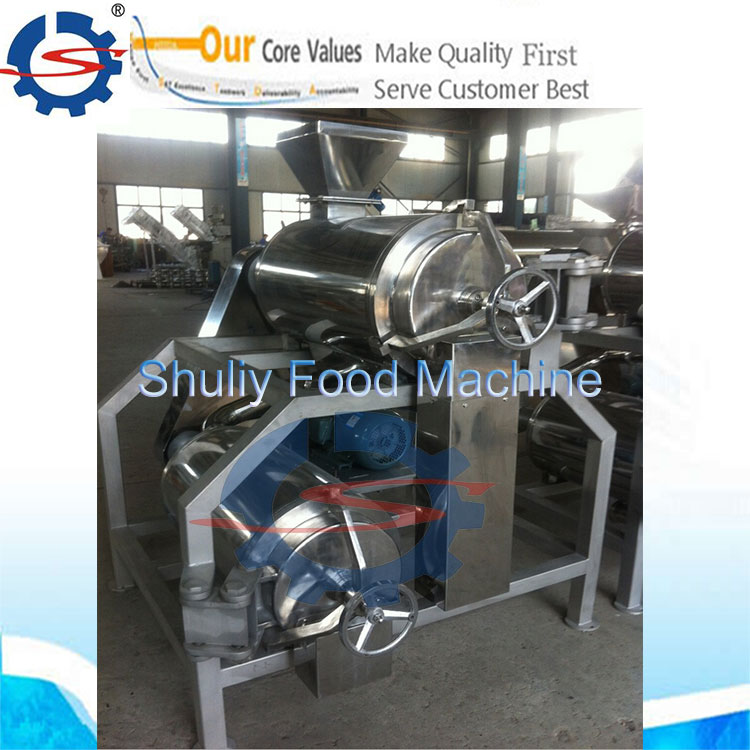 double chambers pulper machine for fruit and vegetable